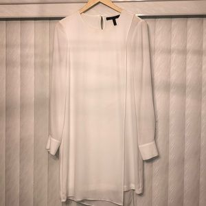 BCBG Maxazria White Overlay Dress